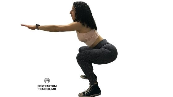 squat-postpartum