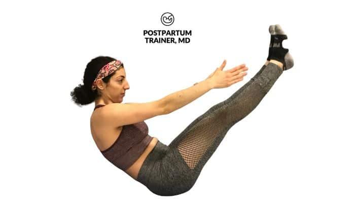 yoga-postpartum-boat-pose