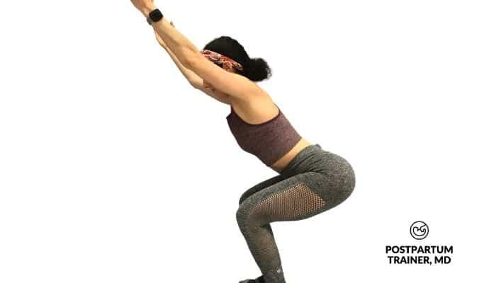 yoga-postpartum-chair-pose
