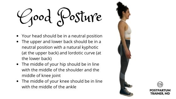 good-posture-postpartum