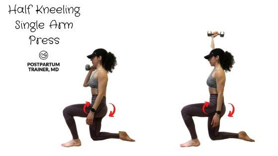 diastasis-recti-half-kneel-single-arm-press