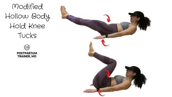 diastasis-recti-modified-hollow-body-hold-knee-tucks
