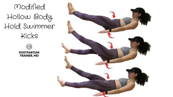 diastasis-recti-modified-hollow-body-hold-swimmer-kicks
