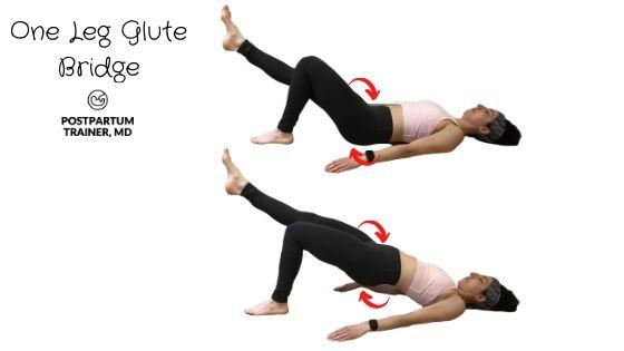 diastasis-recti-one-leg-glute-bridge