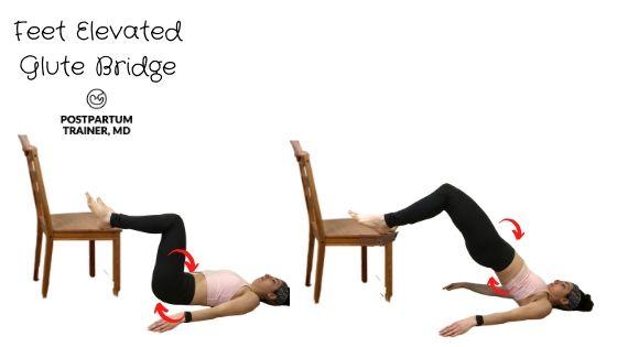 diastasis-recti-feet-elevated-glute-bridge