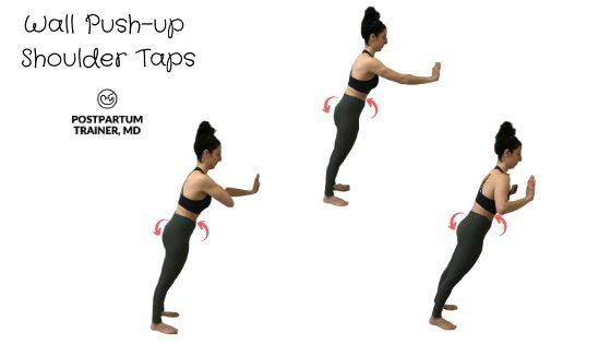 diastasis-recti-wall-push-up-shoulder-tap